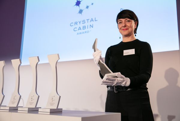 The Crystal Cabin Award trophy 	© CCA