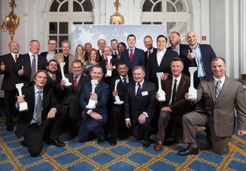 Crystal Cabin Award - The winners of 2015 - group photo